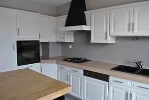 cuisine rustique renovee le bois chez vous With refaire cuisine en bois