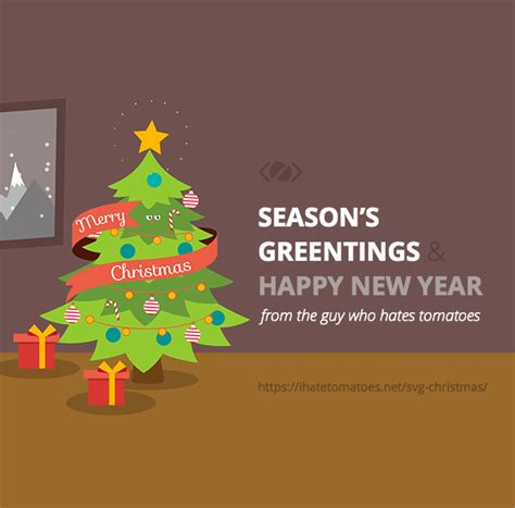 merry svg christmas and happy new year svg animated christmas card by petr tichy