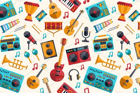 A short melodic idea may also be called a motif, a motive, a cell, or a figure. Musical Instruments Pattern ~ Graphic Patterns ~ Creative Market