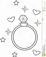 Coloring Ring Diamond Anel Diamante Colorir Draw Anillo Colorear Sponsored Diamant Links sketch template