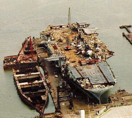 Boat Salvage Yard Baltimore by Uss Coral Sea Cvb 43 Cva 43 Cv 43 Scrapping Site