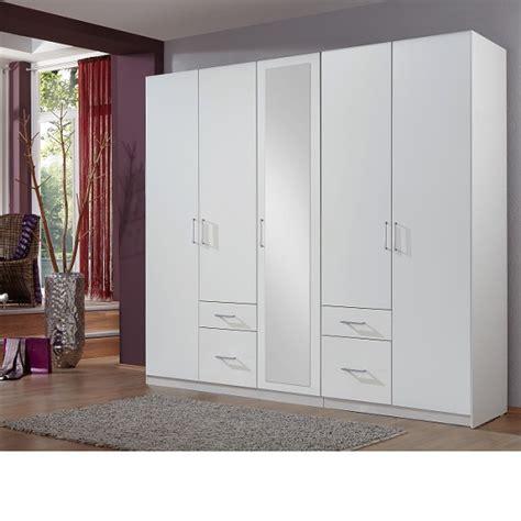 White Wardrobe With Mirror by Fresh Wardrobe White 4 Doors 1 Mirror Door 4 Drawers 25547