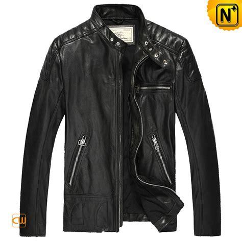 jacket moto mens designer leather moto jacket black cw850216