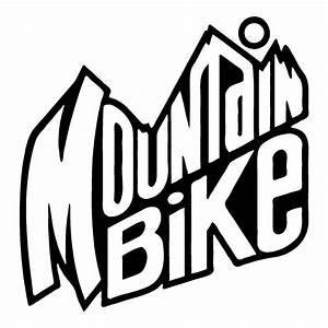 Mountain Bike Text Sticker  U2013 Stick Her Lady