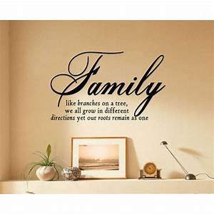family like branches on a tree vinyl lettering wall With vinyl lettering wall art