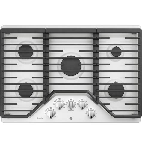 ge profile  built  gas cooktop   burners  optional extra large cast iron griddle