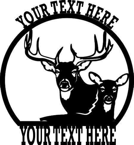 personalized deer buck  sign steel wildlife scenery
