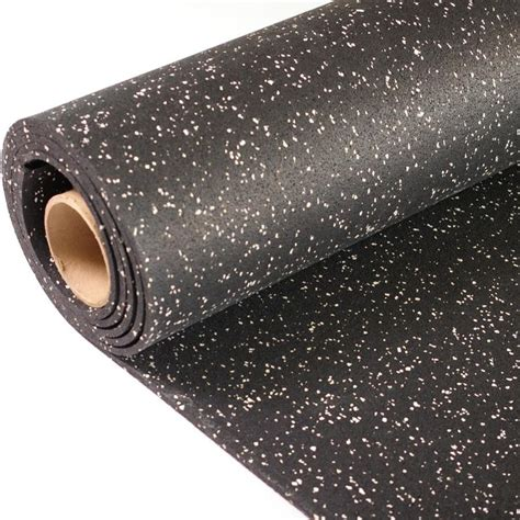 rubber sheet lowes greatmats rolled rubber 48 in 120 in black with eggshell flecks lay color flecked rubber