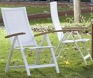 queens garden klapp sessel amazonas alu weiss 721248 With katzennetz balkon mit gartenmöbel queens garden