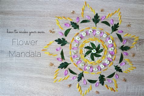 How To Make A Flower Mandala.