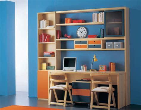 librerie e scrivanie con letto e scaletta contenitore marzorati