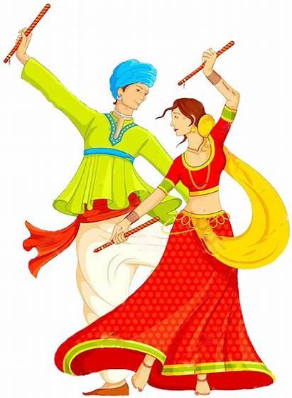 Dandiya Navratri Transparent Dance Clipart Background Happy