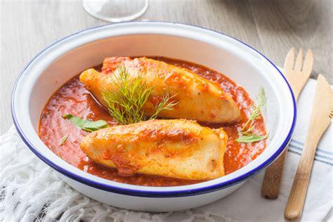 cuisine encornet encornets farcis au riz 224 la m 233 diterran 233 enne cuisine