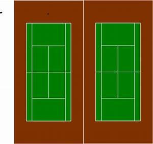 Two Tennis Courts Clip Art at Clker.com - vector clip art ...