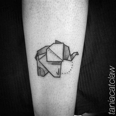 Tatouage Elephant Origami Tattoo Art