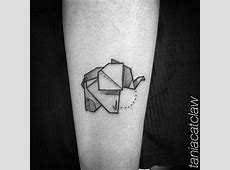 Tatouage Elephant Origami Tattoo Art