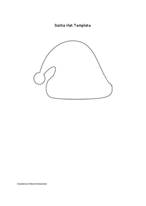 santa hat template printable