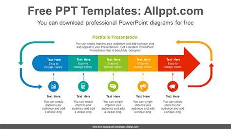 arrows progress powerpoint diagram template