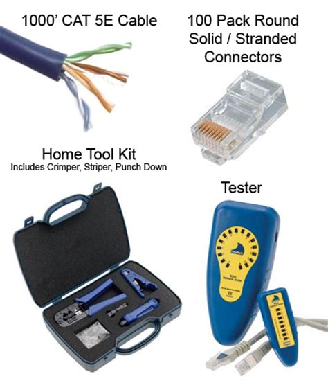 make your own cat5e cable kit home cables plus usa