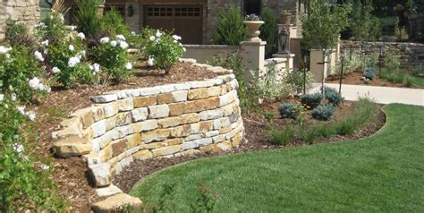 landscape retaining wall pictures retaining wall design landscaping network