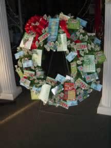 Christmas Lottery Ticket Wreath