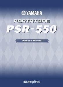 Psr-550 Manuals