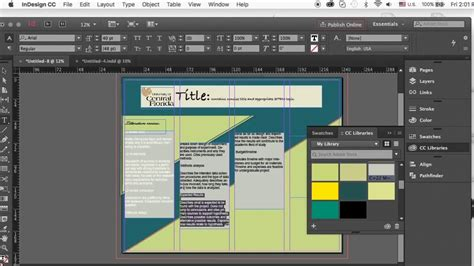create  academic poster  indesign youtube