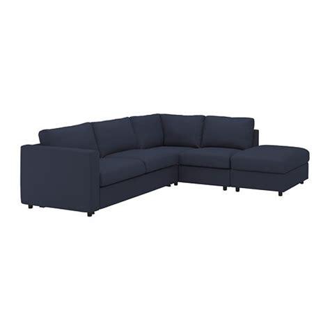 vimle corner sofa bed  seat  open endorrsta black
