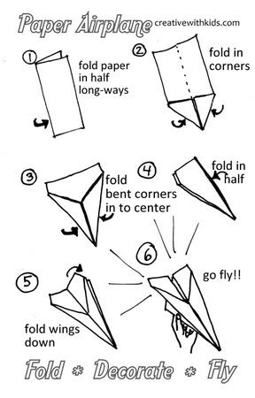 paper airplane templates word plans diy