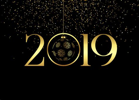 Premium Happy New Year 2019 Background Vector