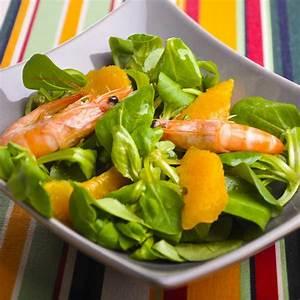 Idée Recette Saine : recette salade de m che aux agrumes et crevettes cuisine ~ Nature-et-papiers.com Idées de Décoration