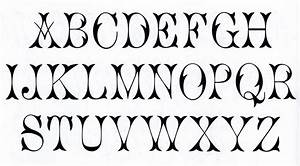 9 best images of fonts alphabet free printable free With picture letters free