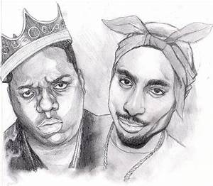 Biggie and Tupac by monkeydonuts246 on DeviantArt