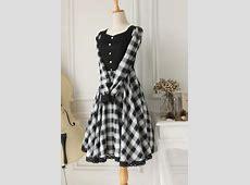 Cheap Vintage Black Heart Neck Long Sleeves Lattice