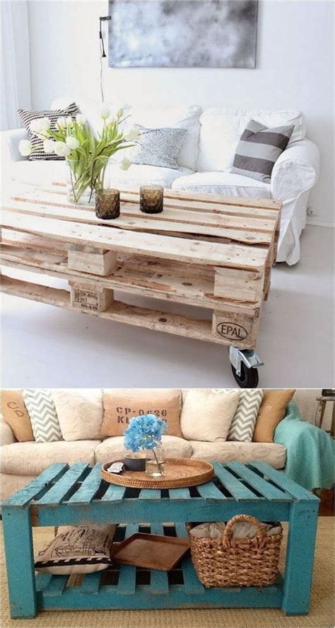 Pallets are some of the most versatile pieces of material you can find and they're not even designed for this purpose. 40 DIY Coffee Table Ideas