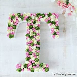 Wooden letters flower design for Wooden letters with flowers