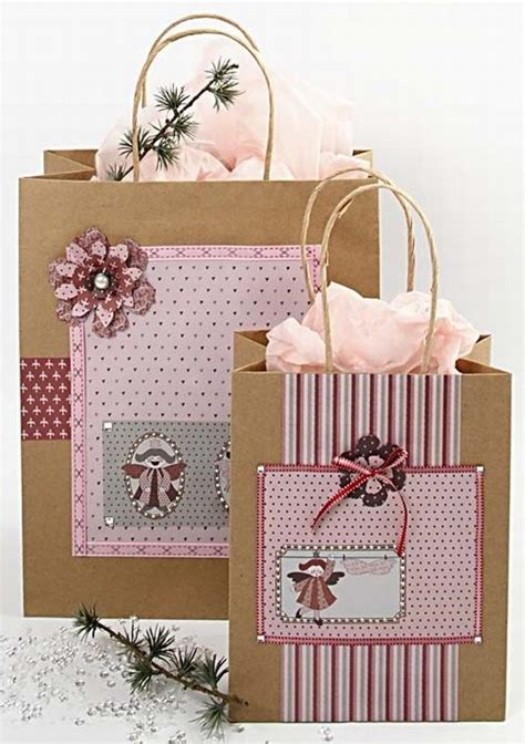 decorating paper bags for christmas decorated bags