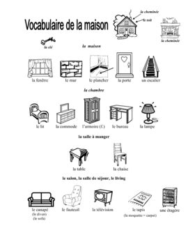 illustrated french house vocabulary page  gretchen