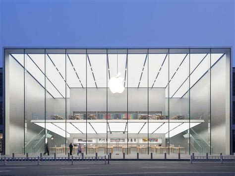 apple s newest store boasts 50 foot glass walls and a free