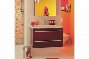 Meuble Salle De Bain Suspendu CITY LINE 80 Simple Vasque