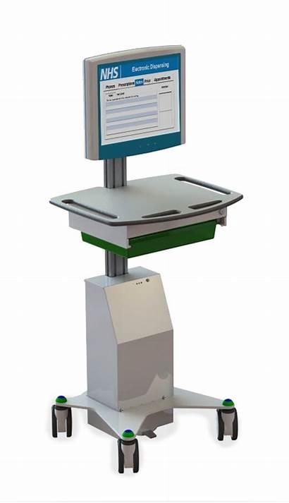 Vha Computer Med Hygia Wheels Medical Carts