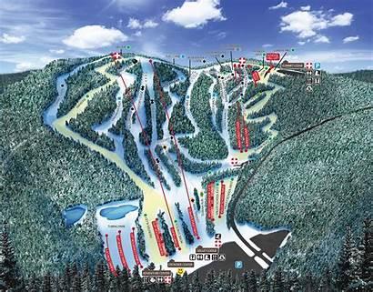 Ski Mountain Resort Map Trail Skiing Area