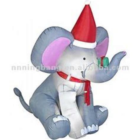animated christmas inflatable elephant decoration buy