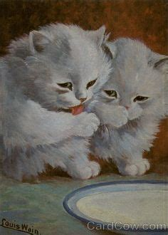 art  louis wain images  pinterest