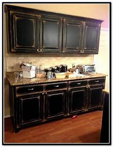 Black And White Distressed Cabinets Home Design Ideas