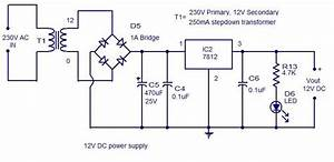 12v Dc Power Supply Circuit Diagram