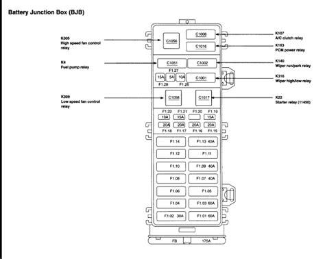where is a c relay diagram 02 ford taurus zx2 vin