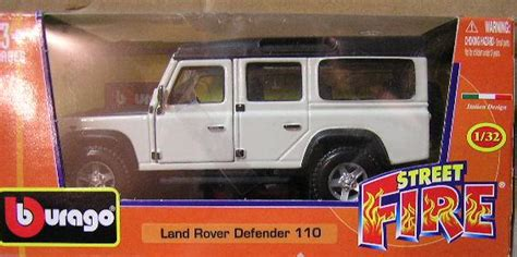 models burago diecast model car street fire land rover