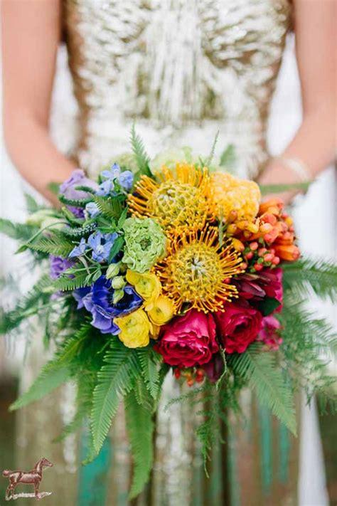 wedding wednesday rainbow flowers flirty fleurs