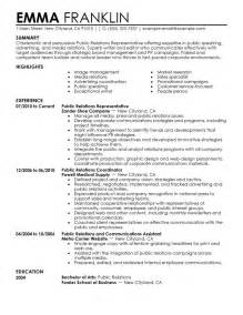 Relations Specialist Resume Objective by Relations Resume Exle My Resume